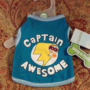 Wag-A-Tude Captain Awesome Dog Shirt/Tank